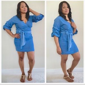 Dresses & Skirts - Belted Jean Denim Dress